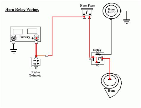 car horn relay wiring diagram get free image about