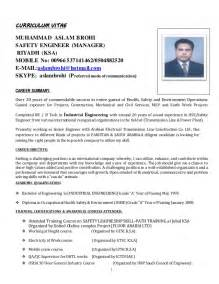 Curriculum Vitae Resume Format Doc by Cv Of Mab Safety Engineer Doc 2016
