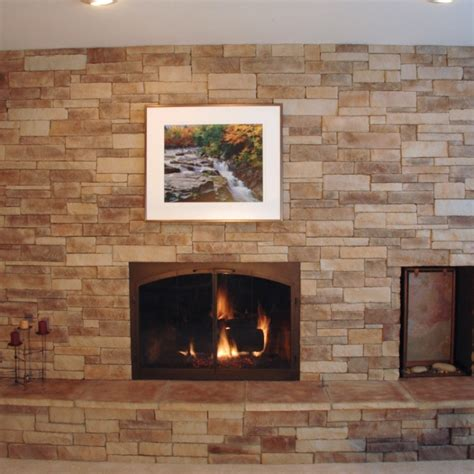 cobblestone fireplace cost of stone for fireplaces north star stone