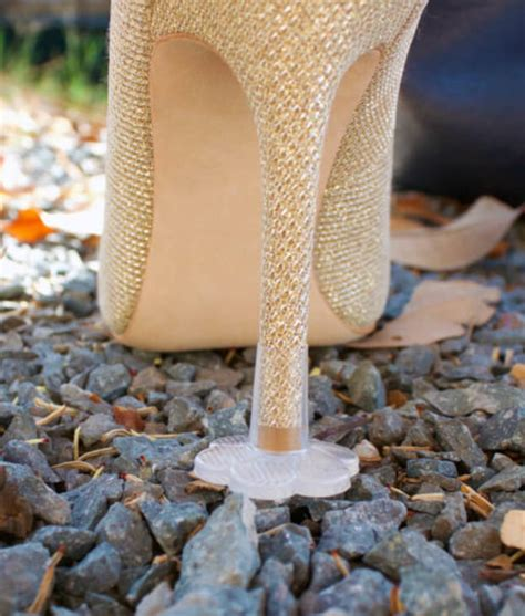 How To Stop Heels From Sinking In Grass by Stoppers Heel Protectors Stop Sinking Into Grass