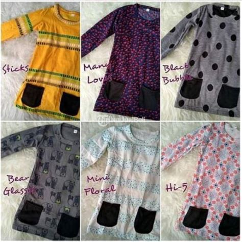 Dress Kaos Overall Anak Bayi Balita Cewek 3 15 Bulan Shabby Metoo baju kaos dengan kantong anak balita cewek new harga murah 100k 3pcs ciledug dijual tribun