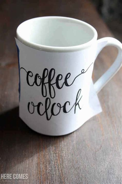 mug design transfer hand lettered mug and coffee the perfect gift