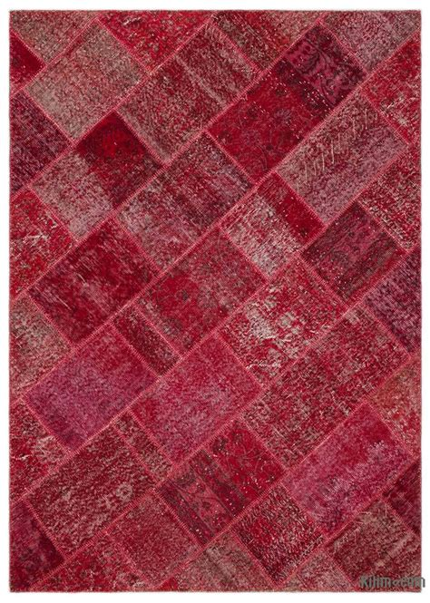 Turkish Overdyed Patchwork Rugs - k0026937 dyed turkish patchwork rug