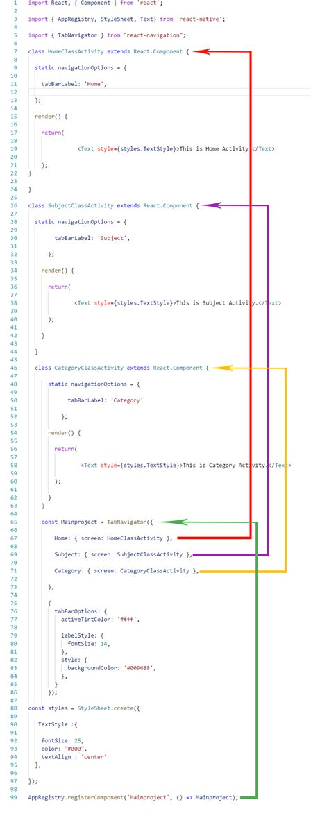 react native navigator tutorial react native swipeable tab navigation view android ios