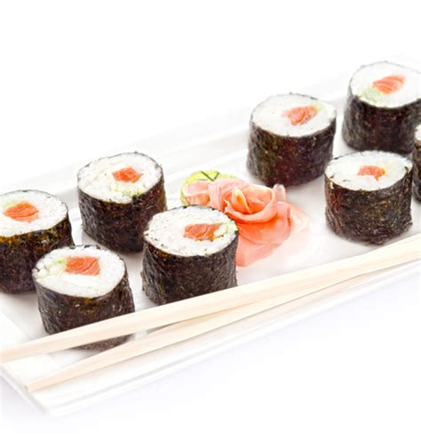 Todays Special Sake Salmon And Rice by Japanese Sake Maki Salmon And Rice Rolls