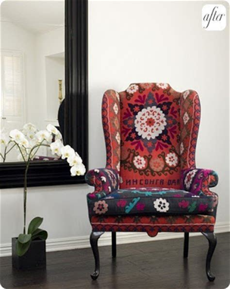suzani fabric chair inspire bohemia suzani ikat tables chairs sofas and beds