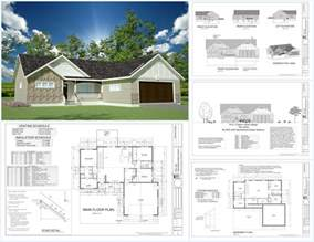 Complete House Plans by H233 1367 Sq Ft Custom Spec House Plans In Both Pdf And