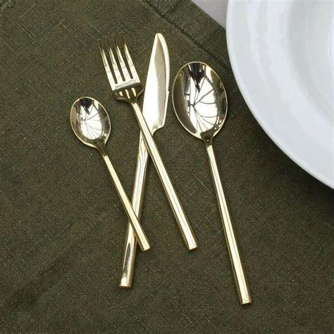 brass cutlery luxury sixteen piece shiny brass cutlery set by ella james