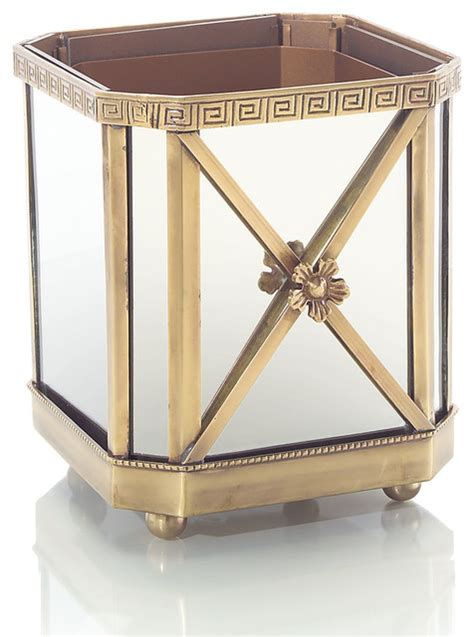 Mirrored Indoor Planters by Brass And Mirror Planter Transitional Indoor Pots And