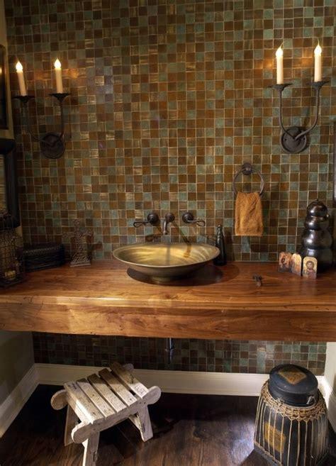 badezimmer vanity hocker waschtisch holz metall aufsatzwaschbecken rustikales