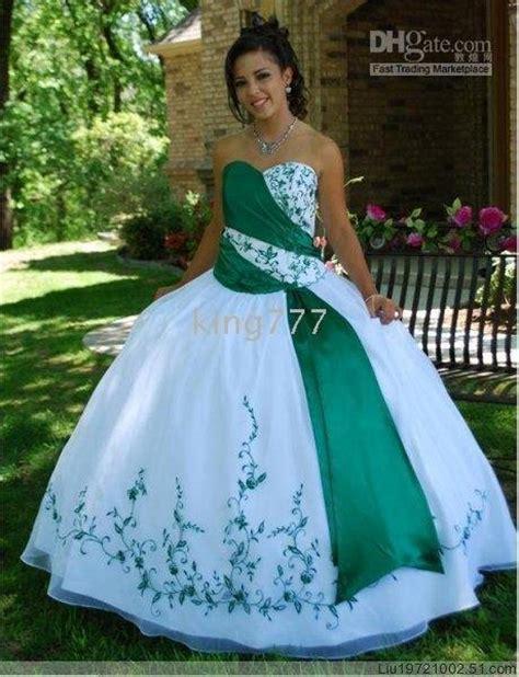 white and green wedding dresses white green strapless wedding dress bridal evening dress
