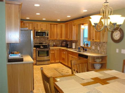 kitchen colors with hickory cabinets kitchen colors with hickory cabinets kitchen before
