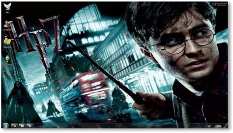 themes for windows 7 harry potter harry potter deathly hallows windows 7 theme and wallpapers