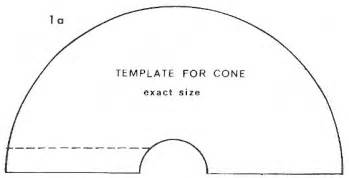 cone template crafts paper pinterest