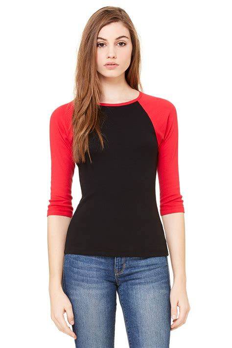 Raglan Shirt 4 20 canvas 3 4 sleeve contrast t shirt raglan top