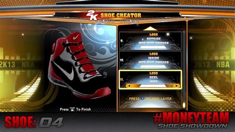 shoe creator nba 2k13 moneyteam shoe showdown ft 2k shoe creator