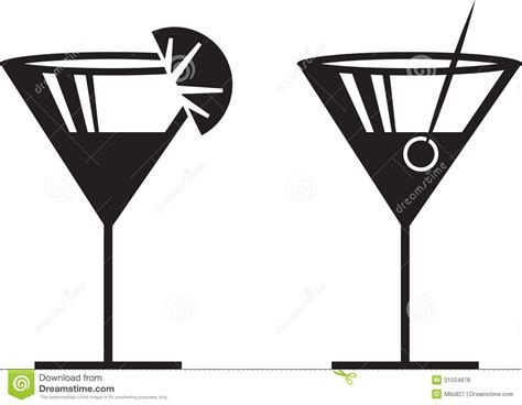 cocktail silhouette drinking clipart glass pencil and in color
