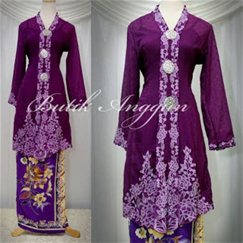 Model Pakaian Muslim Kebaya Fiona White Your Kebaya Boutique A
