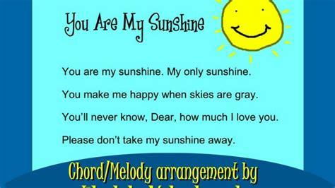 strumming pattern you are my sunshine you are my sunshine chord melody arrangement by ukulele