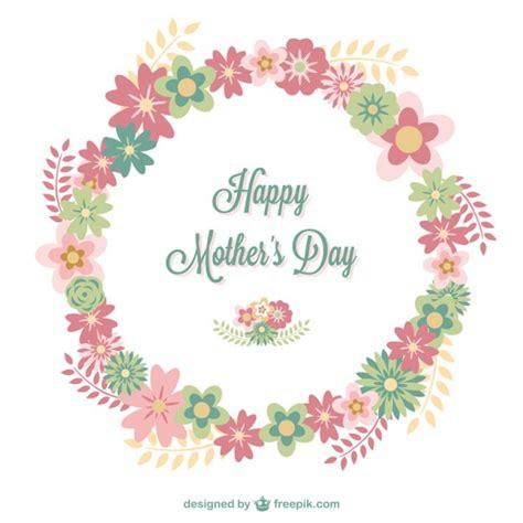 feliz dia de las madres card template tarjeta floral feliz d 237 a de la madre descargar vectores
