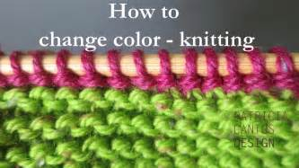 how to change color knitting