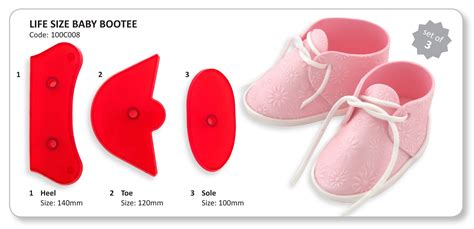 baby shoe template for fondant best photos of fondant baby booties template baby bootie