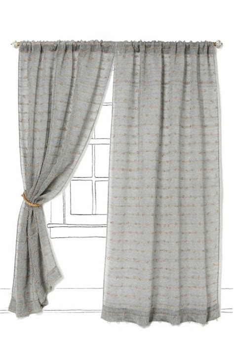 curtains with loops at top anthropologie jute loop curtains copycatchic