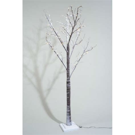 lumineo 160cm warm white led pre lit snowy paper christmas