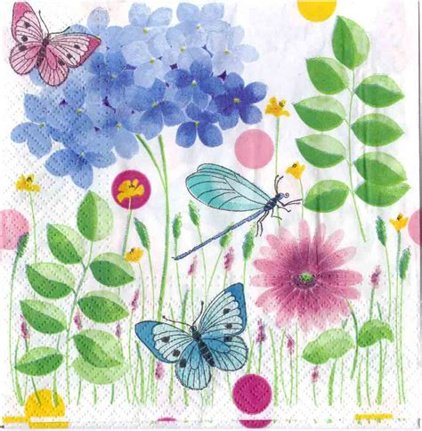 How To Decoupage With Paper Napkins - decoupage paper napkins of butterflies dragonfly in a