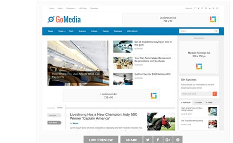 adsense squarespace gomedia wordpress theme download review 2018