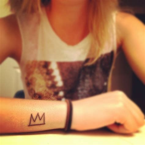 basquiat tattoo basquiat crown ideas inspiration