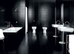 black tile bathroom ideas dadka modern home decor and space saving furniture for