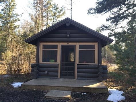 bear head lake state park cabin  ely mn photo
