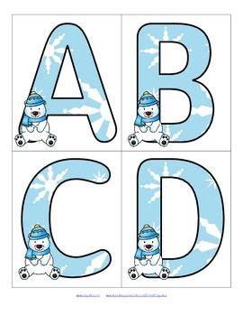 printable winter alphabet letters snow theme activities and printables for preschool pre k
