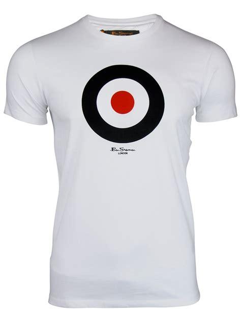 mens ben sherman t shirt throne retro mod target print
