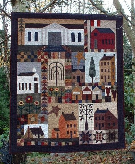 quilt pattern village quilt country and larger on pinterest
