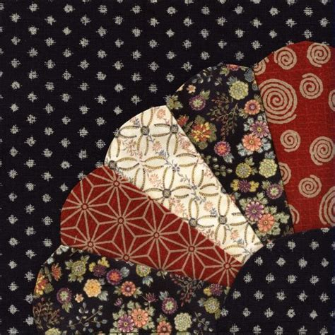Japanese Quilt Blocks by S Place Japanese Quilt Block 1 Fan