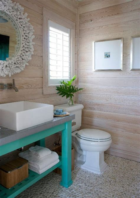 blue and coral bathroom coral mirror cottage bathroom caccoma interiors