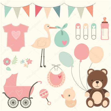 Baby Shower Sts by Baby Shower Set Stock Vector 169 Jason Lsy 109114334
