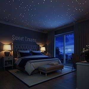 New York Wall Murals For Bedrooms amazon com liderstar glow in the dark stars wall stickers