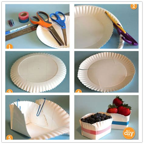 How To Make A Paper Phlet - diy how to turn a paper plate into a storage box