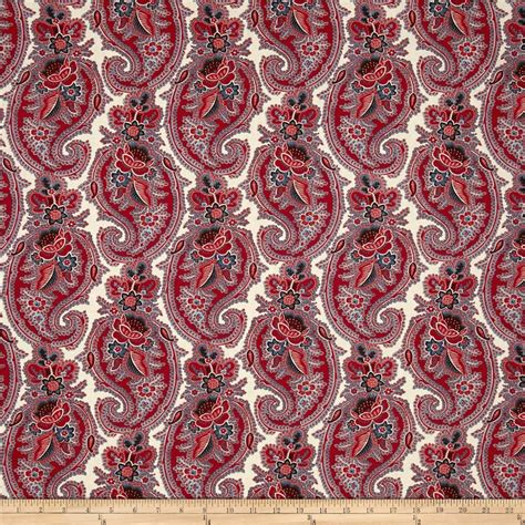 Buy Quilting Fabric by Moda Pondicherry Paisley Pearl Discount Designer Fabric
