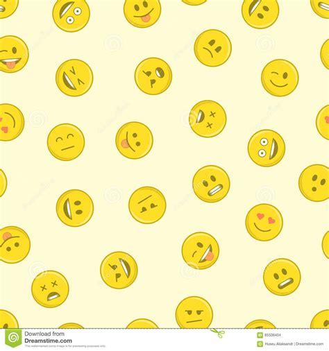 emoji pattern background emoji seamless pattern stock vector image 85506404