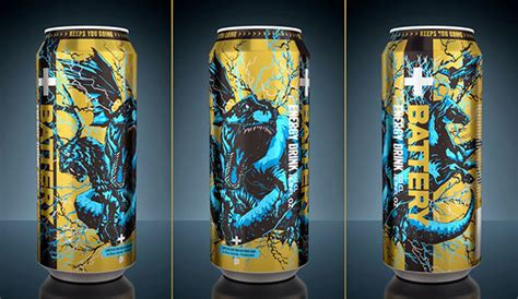 t rex energy drink battery limited edition design can on behance