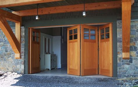 Folding Garage Door by Custom Side Folding Garage Doors Garage