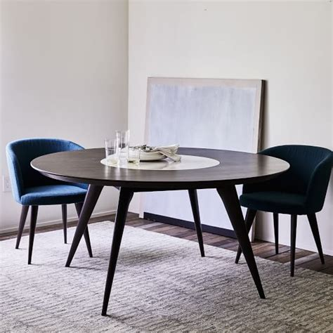 Dining Table With Lazy Susan Turner Lazy Susan Dining Table West Elm