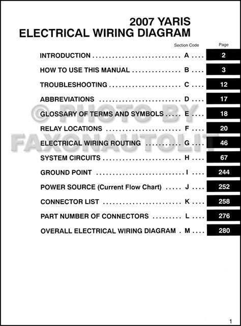 toyota yaris 2010 wiring diagram efcaviation