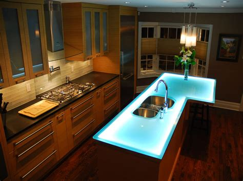 glass countertop kitchen island innovative design