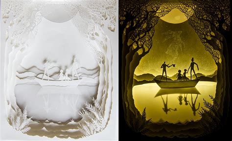 Paper Cut Light Box by Backlit Paper Sculptures By Hari Deepti Colossal