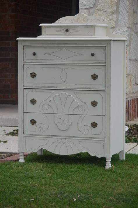 Antique Shabby Chic White Dresser Chest Of Drawers Shabby Chic Dresser White
